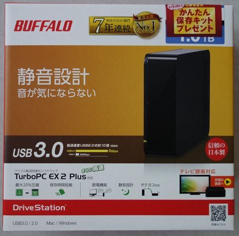 簡単保存キットのハードディスク HD-LC1.0U3BKD