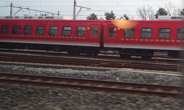 伊豆高原留置中のキンメ電車